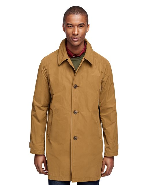 Brooks Brothers | Yellow Raglan Car Coat for Men | Lyst