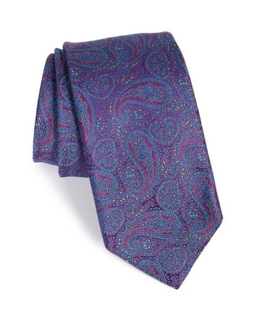 Robert Talbott | Purple Paisley Silk Tie for Men | Lyst