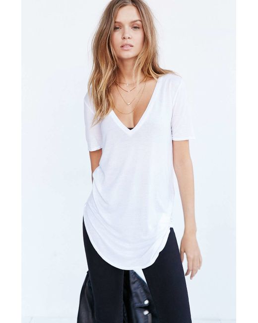 Truly Madly Deeply | White Deep-v Tee Dress | Lyst