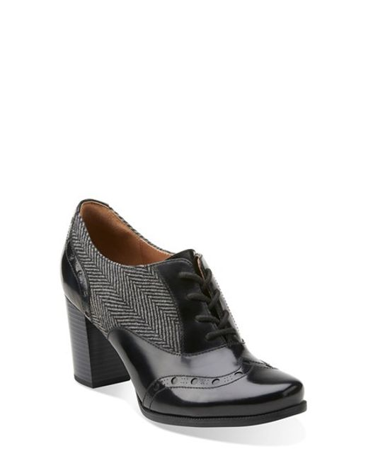 Clarks Ciera Brine Oxford Pump In Gray Grey Fabric Lyst