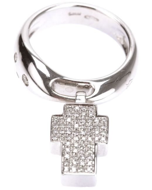 Gavello | Metallic Cross Ring | Lyst