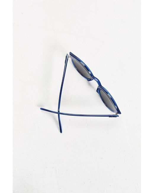 Ray-Ban | Blue Tinted Lens Round Sunglasses for Men | Lyst