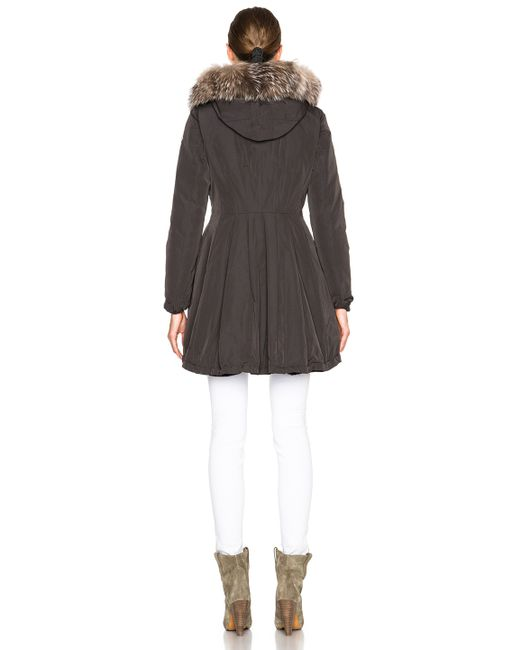 Moncler | Green Arriette Parka With Fox Fur Hood | Lyst