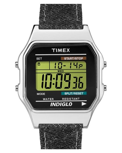 timex timex originals digital leather in