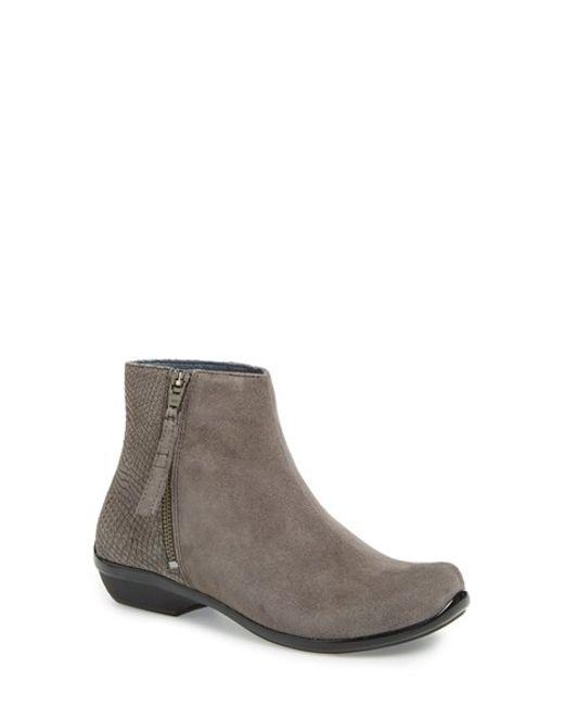 Dansko | Gray 'otis' Ankle Boot | Lyst