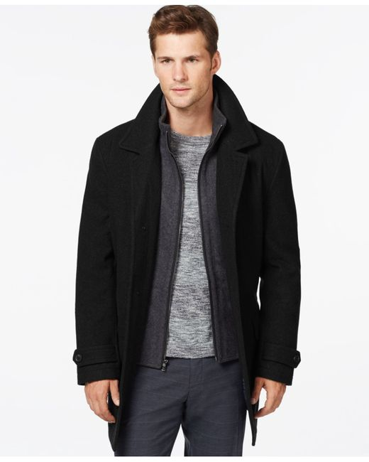 Michael Kors | Black Wool-blend Car Coat for Men | Lyst