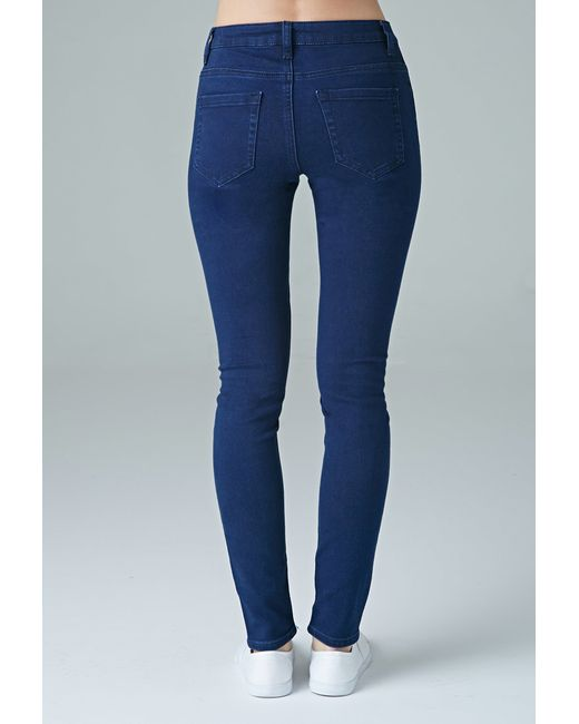 Forever 21 | Blue Sunset Mid-rise Skinny Jeans | Lyst