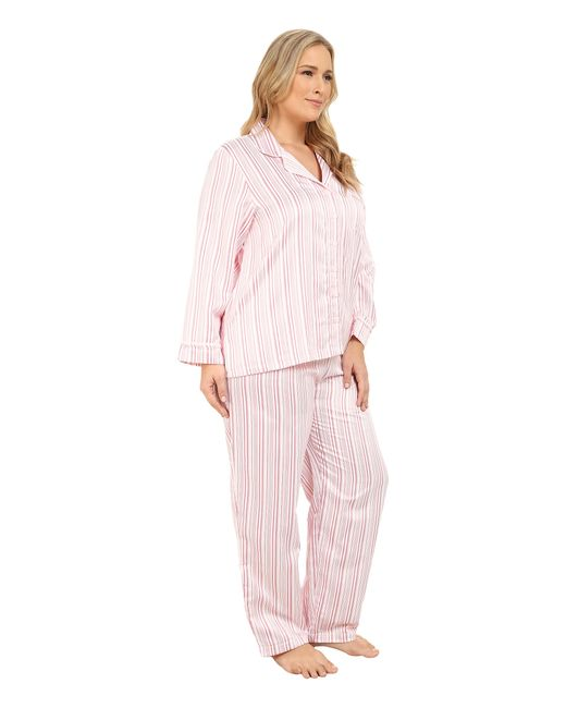 Carole Hochman | Pink Plus Size Packaged Brush Back Satin Pajama | Lyst