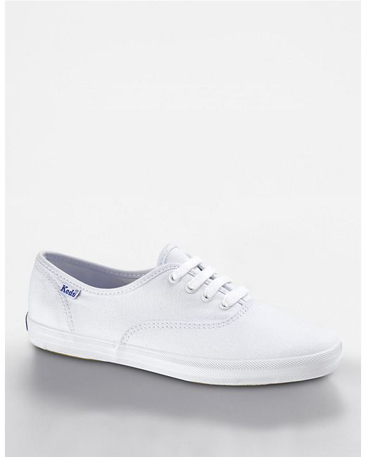 keds chion cotton canvas sneaker in white for lyst