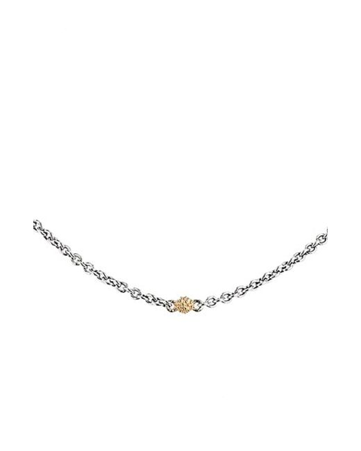 Lagos | White Sterling Silver Embrace Diamond Station Rope Necklace, 16"