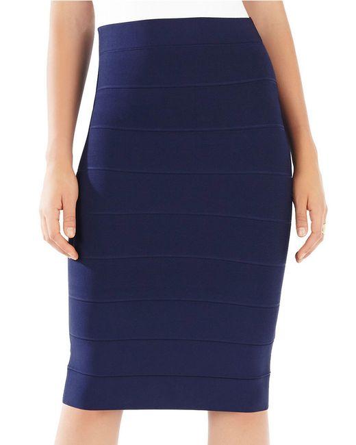 BCBGMAXAZRIA   Blue Leger High Waist Power Skirt   Lyst