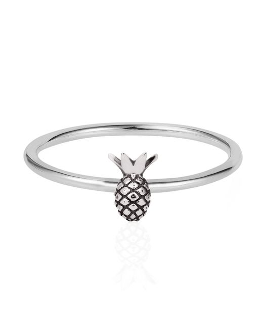 Lee Renee | Metallic Tiny Pineapple Ring Silver | Lyst