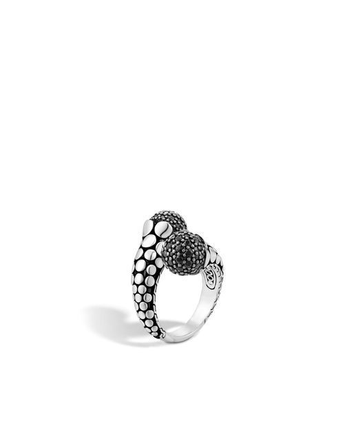 John Hardy   Bypass Ring With Black Sapphire   Lyst