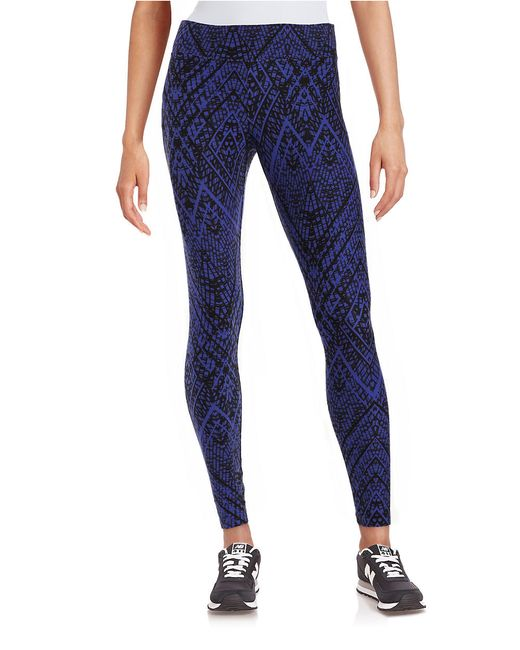 Tribal Pattern Knit Legging by Slim-Sation ®: Adopt a fun, casual vibe with these tribal print leggings that make you look thinner instantly. Slim-Sation's signature mesh panel contours your waist, slims your tummy and shapes your hips while the stretchy, wrinkle-resistant knit fabric retains its .