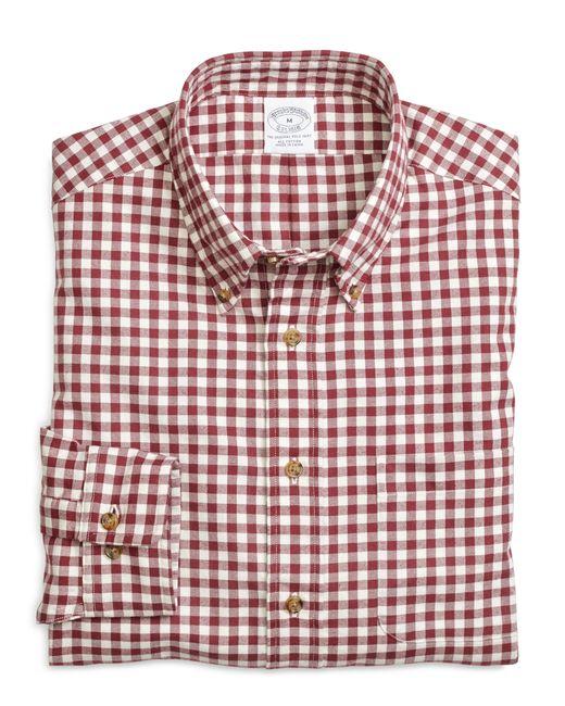 Brooks Brothers   Purple Regular Fit Flannel Gingham Sport Shirt for Men   Lyst
