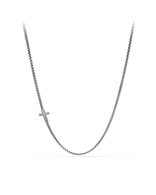 David Yurman | Pavé Cross Necklace With Black Diamonds for Men | Lyst