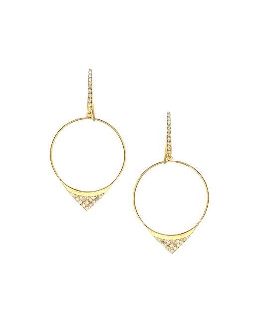 Lana Jewelry | Metallic Small Electric Diamond Hoop Earrings | Lyst