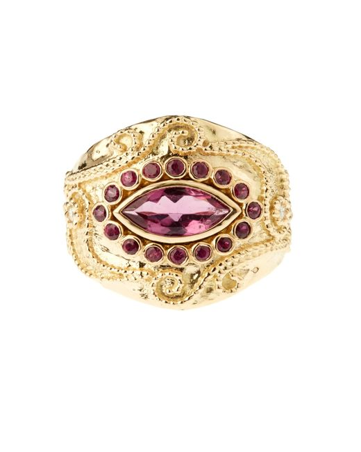 Aurelie Bidermann | Cashmere Rubellite And Ruby Yellow-gold Ring | Lyst