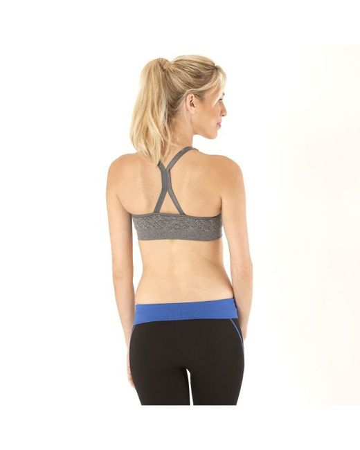 Electric Yoga Structured Striped Bra In Gray