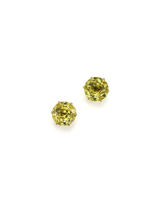 Ippolita | 18k Gold Rock Candy Medium Round Stud Earrings In Green-gold Citrine | Lyst