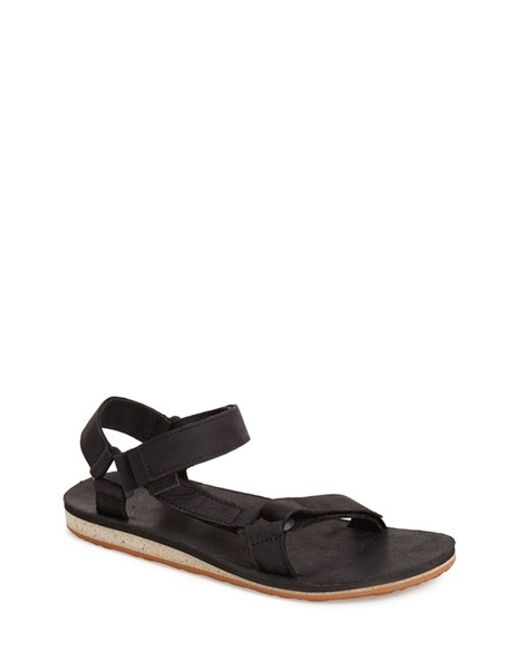 Teva | Black 'original Universal' Leather Sandal for Men | Lyst