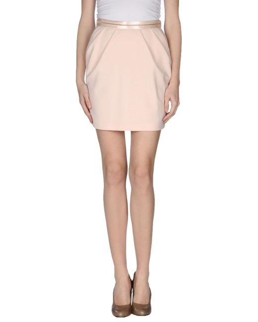 pinko knee length skirt in pink lyst