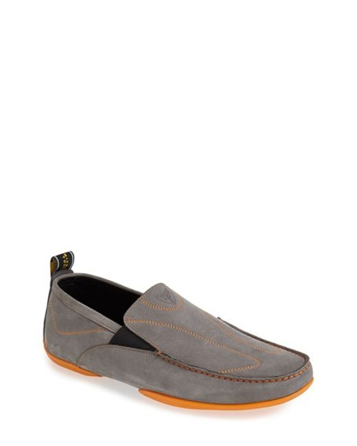 michael toschi onda sport driving shoe in gray for
