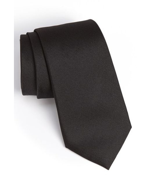 Calibrate | Black Woven Silk Tie for Men | Lyst