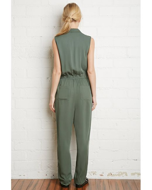 Forever 21   Green Classic Utility Jumpsuit   Lyst