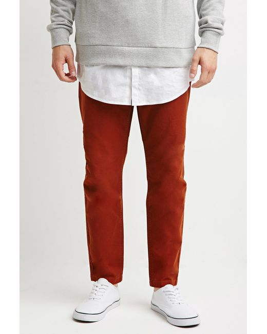 Forever 21 | Brown Drawstring Canvas Pants for Men | Lyst