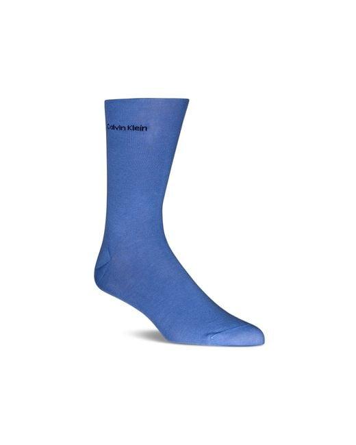 Calvin Klein | Purple Giza Cotton Flat Knit Socks for Men | Lyst