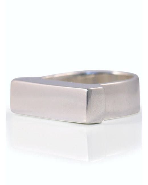 Danielle Foster | Metallic Silver Heavy Top Ring - Last One | Lyst