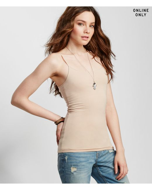 Aéropostale | Natural Solid Basic Shelf Bra Cami | Lyst