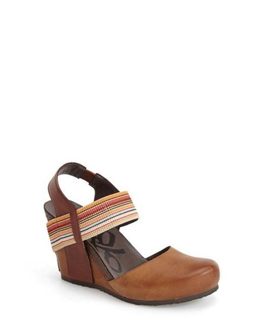 Otbt | Brown 'Rexburg' Wedge Sandal | Lyst