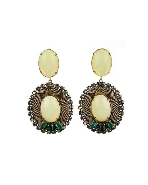 Nicole Romano | Brown Lacerta Earrings | Lyst