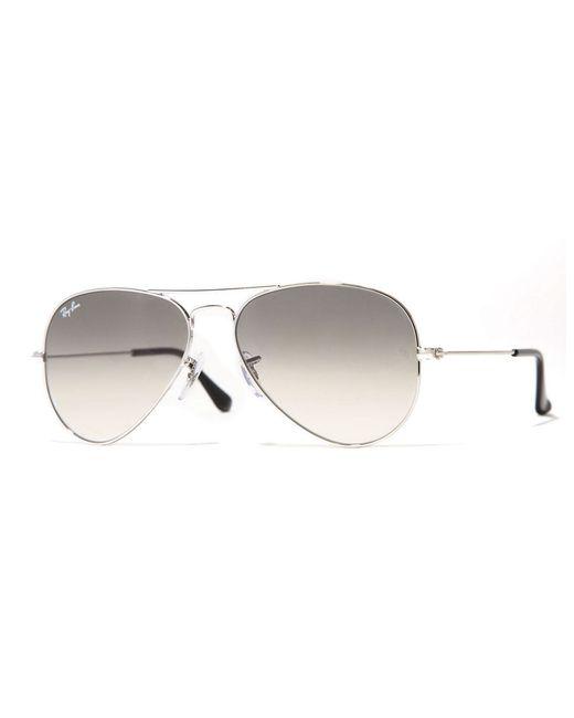 Ray Ban 3025 Aviator Silver Smokey Sunglasses 003 32   City of ... c7c31f5cdb01