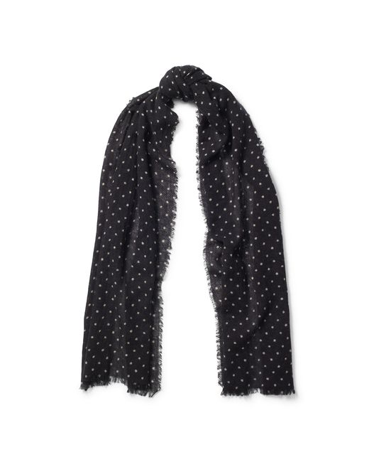 Pink Pony | Black Polka-dot Wool Scarf | Lyst