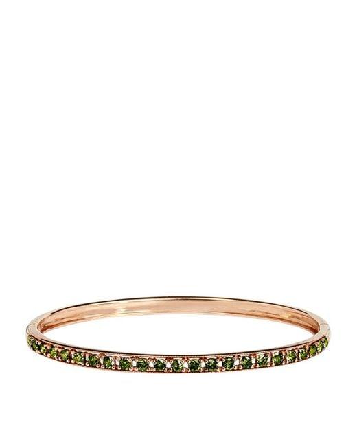 Annoushka | Green Dusty Diamonds Line Bangle | Lyst