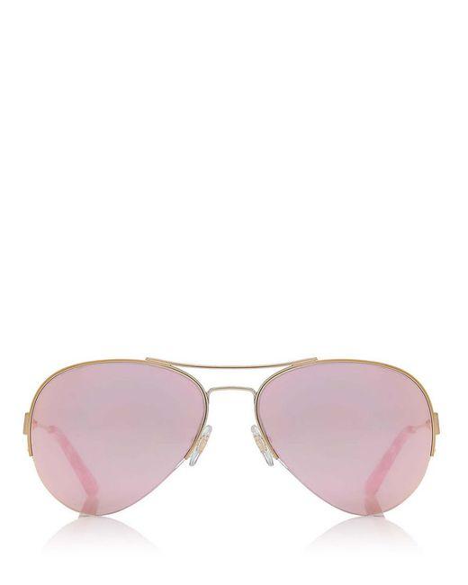 Tory Burch | Metallic Classic Aviator Sunglasses | Lyst