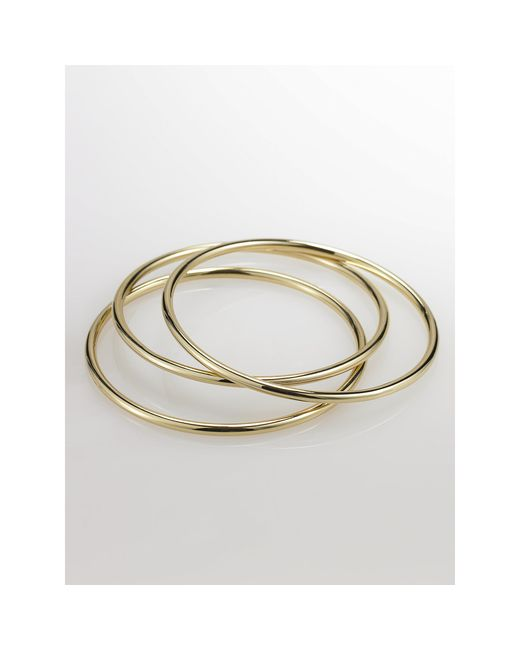 Pink Pony | Metallic Gold Bangle Set | Lyst