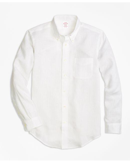 Brooks brothers madison fit irish linen sport shirt in for Irish linen dress shirts