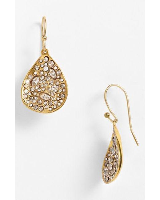 Alexis Bittar | Metallic 'miss Havisham' Crystal Encrusted Teardrop Earrings | Lyst