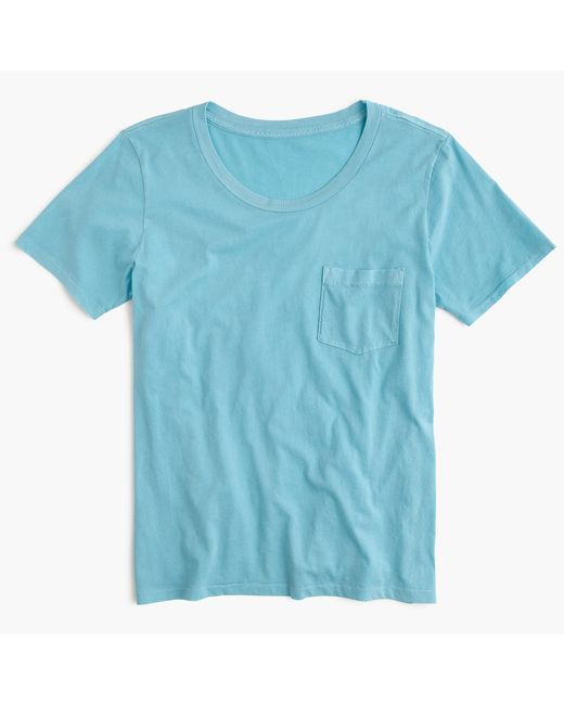J.Crew | Blue Garment-dyed Pocket T-shirt | Lyst