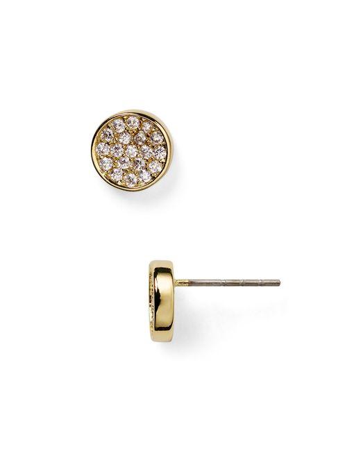 Carolee | Metallic Round Pavé Stud Earrings | Lyst