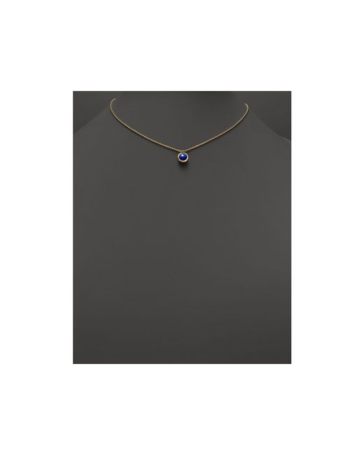 "Marco Bicego | Metallic 18k Gold & Lapis Delicati Pendant Necklace, 16.5"" | Lyst"