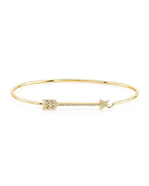 Anne Sisteron - Metallic 14kt Yellow Gold Diamond Cupid Bracelet - Lyst