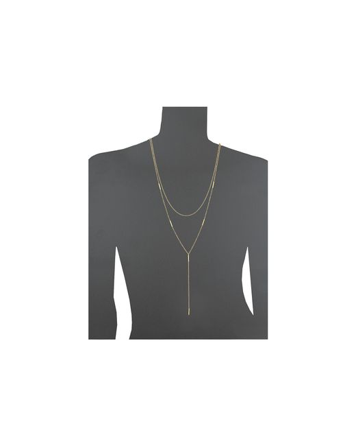 Gorjana   Metallic Nina Layered Lariat Necklace   Lyst