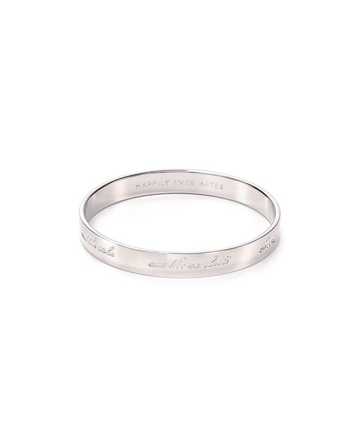 Kate Spade | Metallic Bride Engraved Idiom Bangle | Lyst