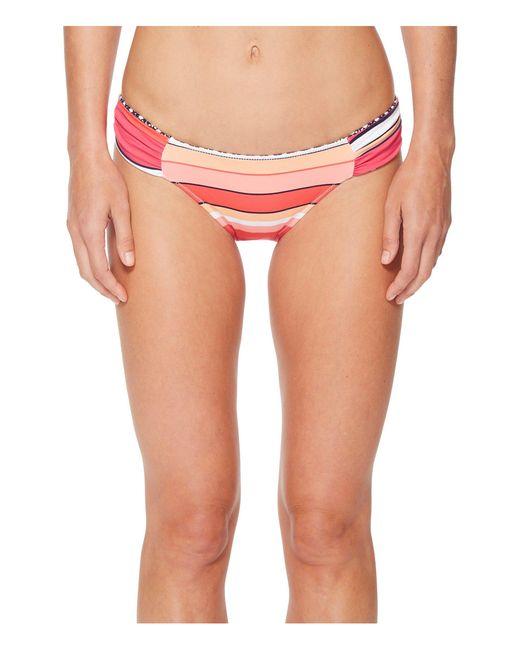 Tommy Bahama - Pink Petals Of Paradise Reversible Side-shirred Hipster Bikini Bottom - Lyst