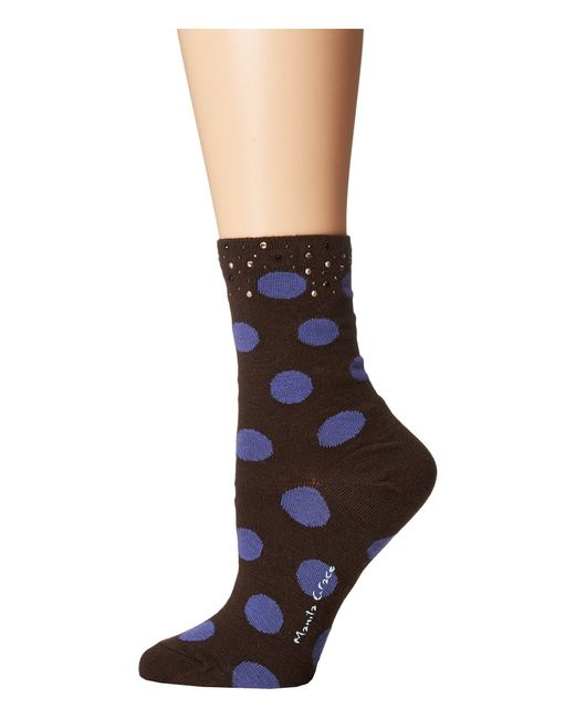 Manila Grace - Black Polka Dot Socks - Lyst
